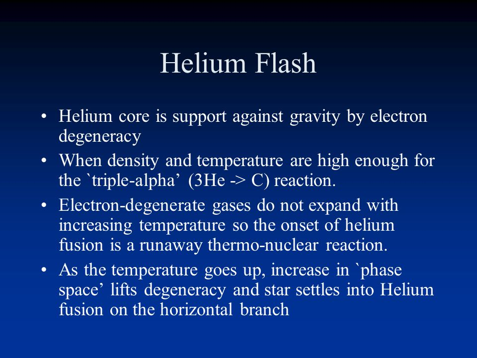 Red Giant Hydrogen fusion shell Contracting helium core