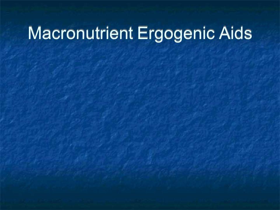 Macronutrient Ergogenic Aids