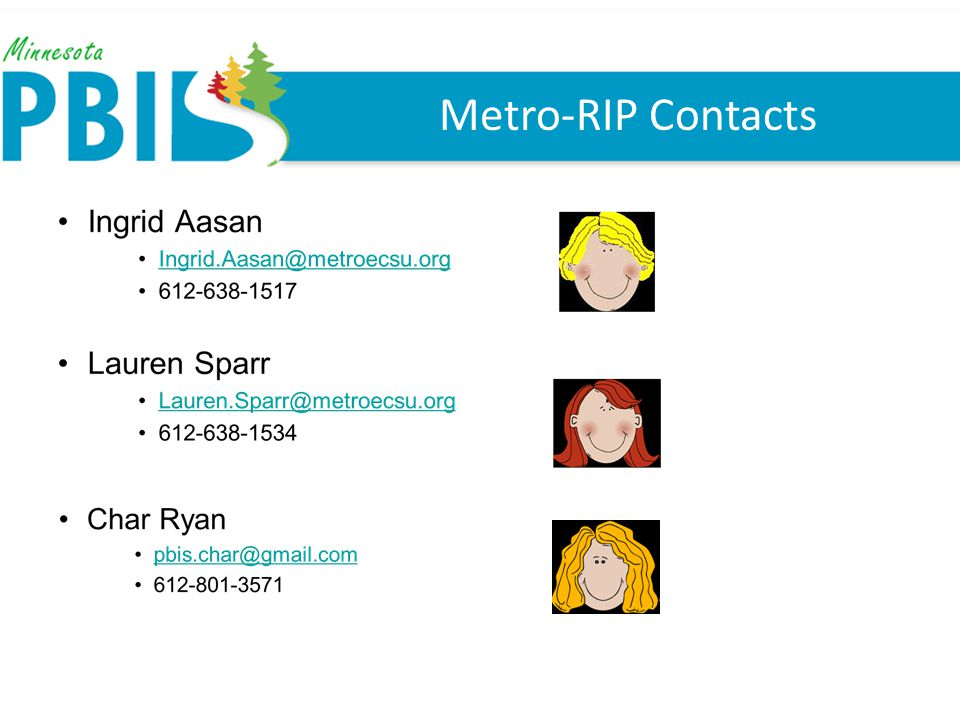Metro-RIP Contacts