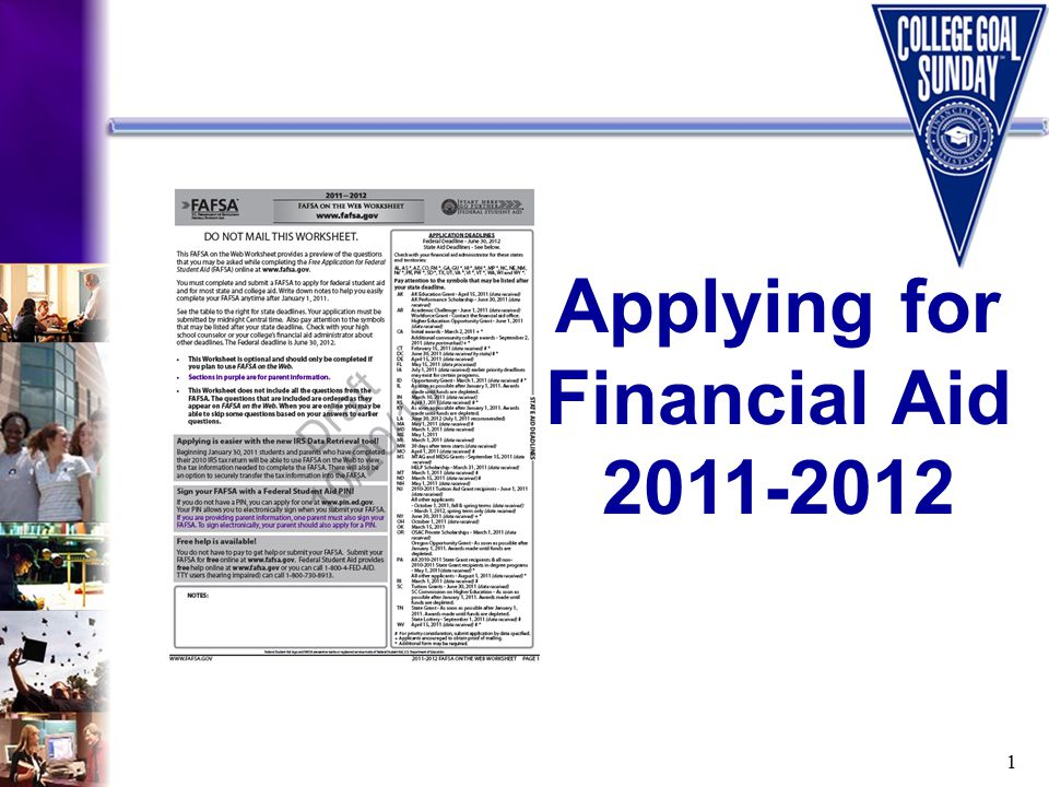 1 Applying for Financial Aid 2011-2012