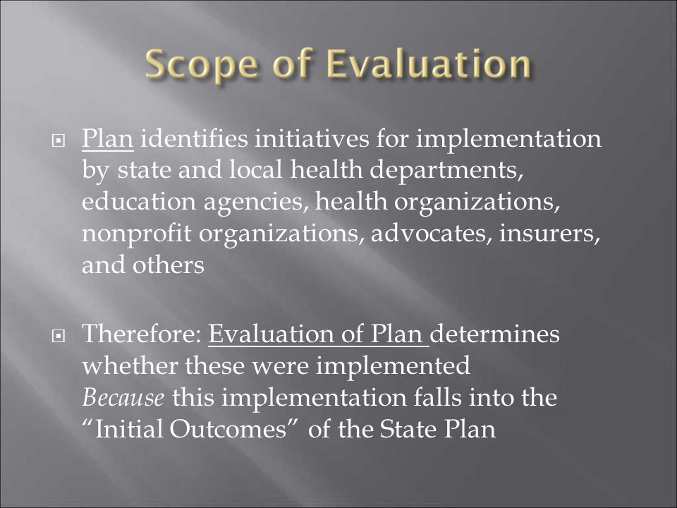  Plan identifies initiatives for implementation by state and local health departments, education agencies, health organizations, nonprofit organizati