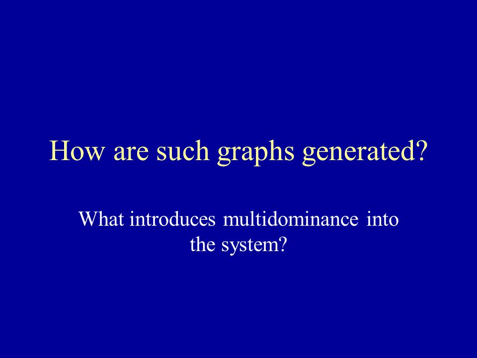 How are such graphs generated What introduces multidominance into the system