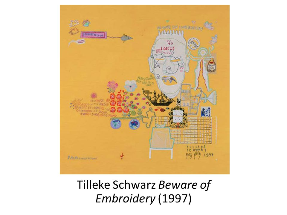 Tilleke Schwarz Beware of Embroidery (1997)