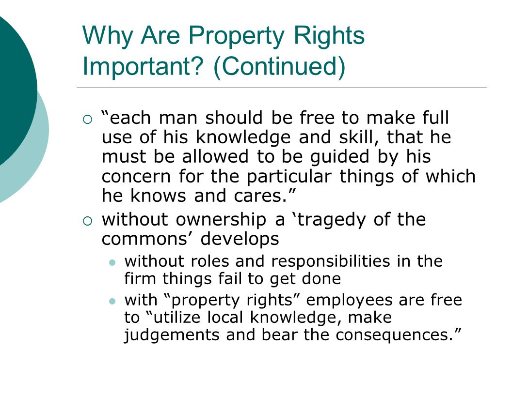 Why Are Property Rights Important.