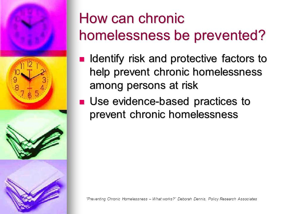 How can chronic homelessness be prevented.