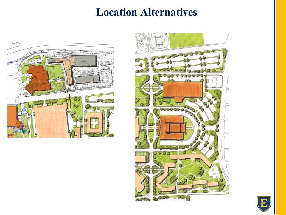 ETSU Fine Arts Facility Location Alternatives