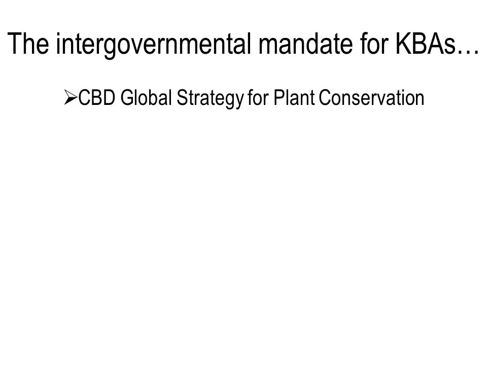  CBD Global Strategy for Plant Conservation