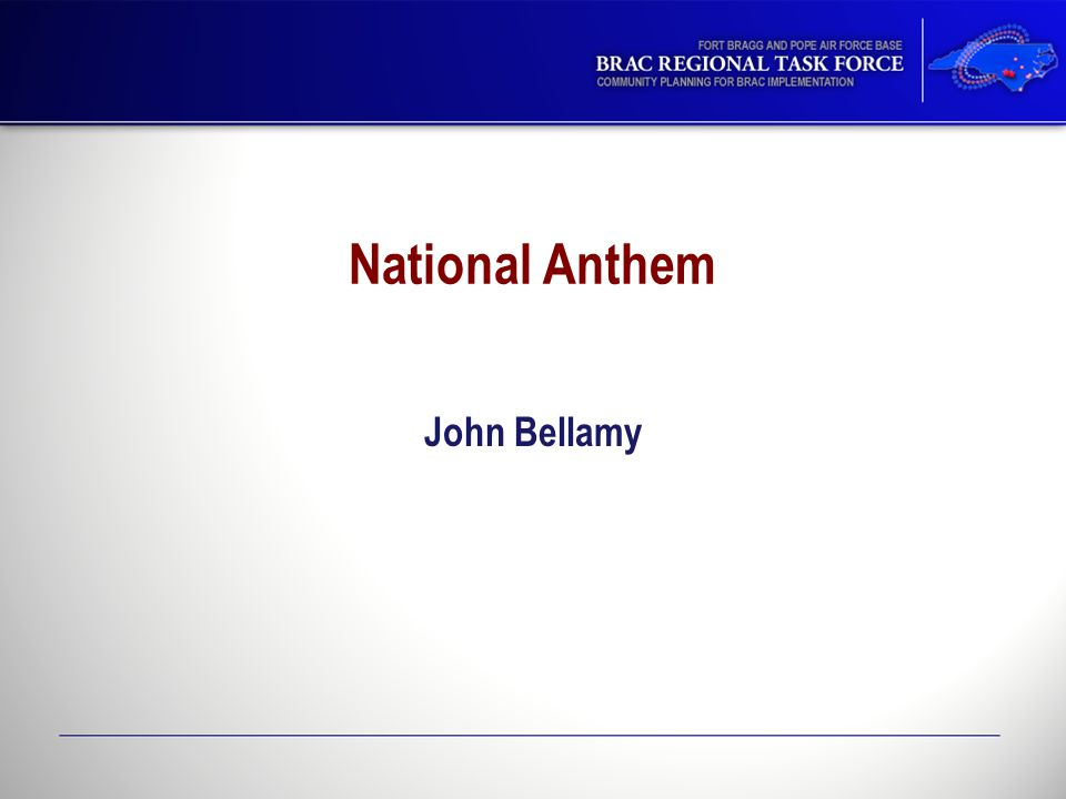 National Anthem John Bellamy