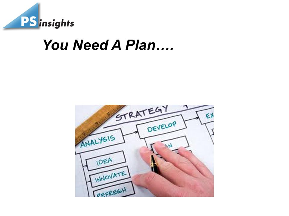 You Need A Plan….