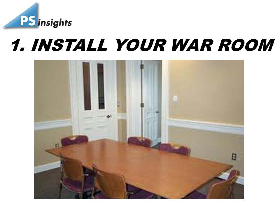 1. INSTALL YOUR WAR ROOM