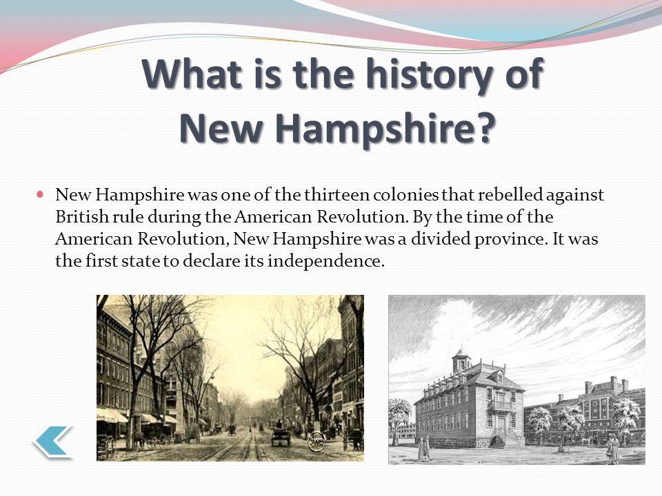 What is the history of New Hampshire.
