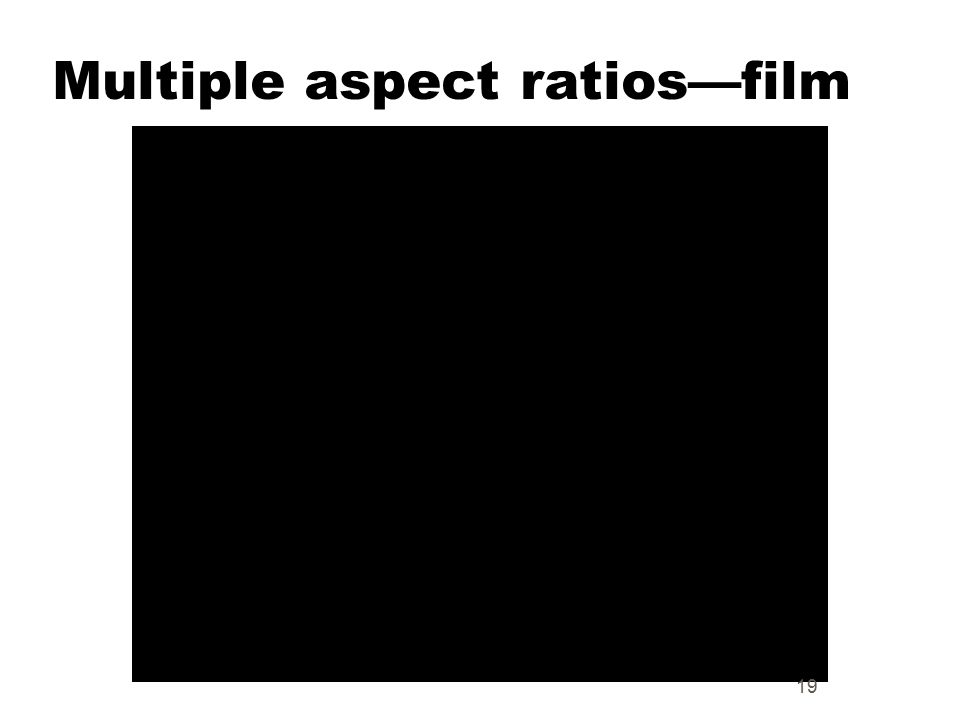 Multiple aspect ratios—film 19