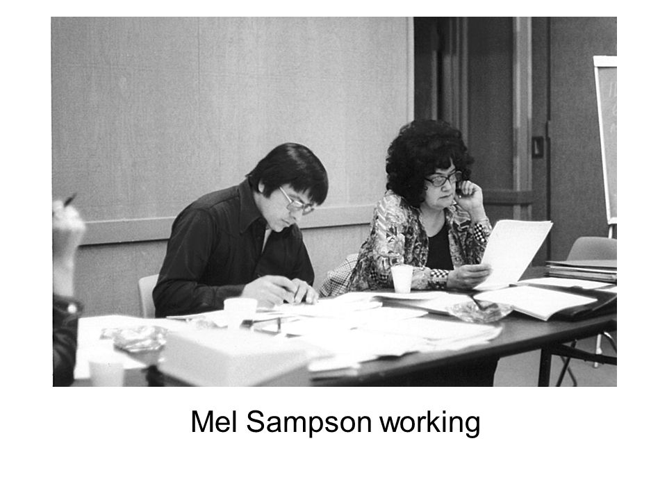 Mel Sampson working