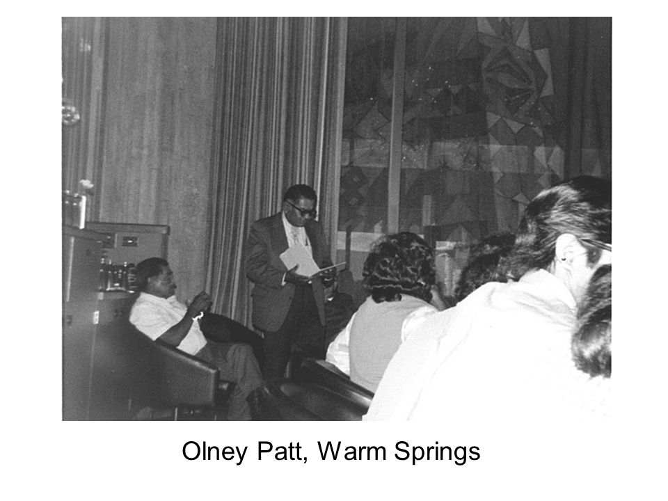 Olney Patt, Warm Springs