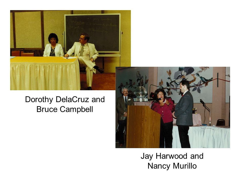 Jay Harwood and Nancy Murillo Dorothy DelaCruz and Bruce Campbell