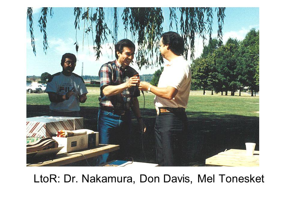 LtoR: Dr. Nakamura, Don Davis, Mel Tonesket