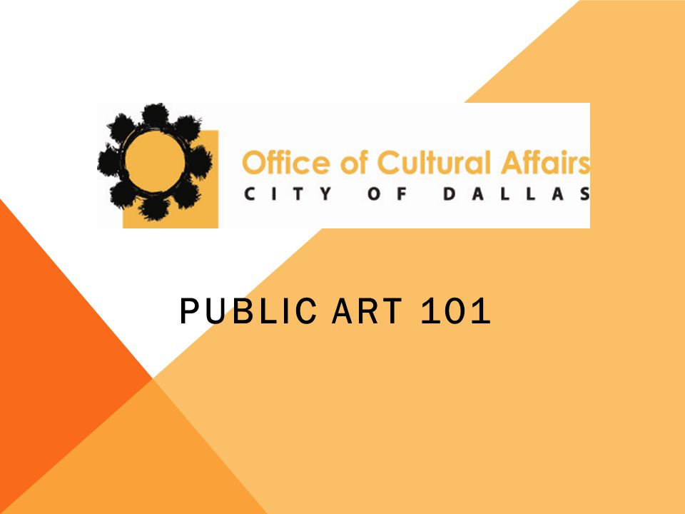 PUBLIC ART 101