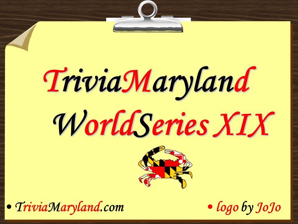 TriviaMaryland WorldSeries XIX TriviaMaryland.comlogo by JoJo
