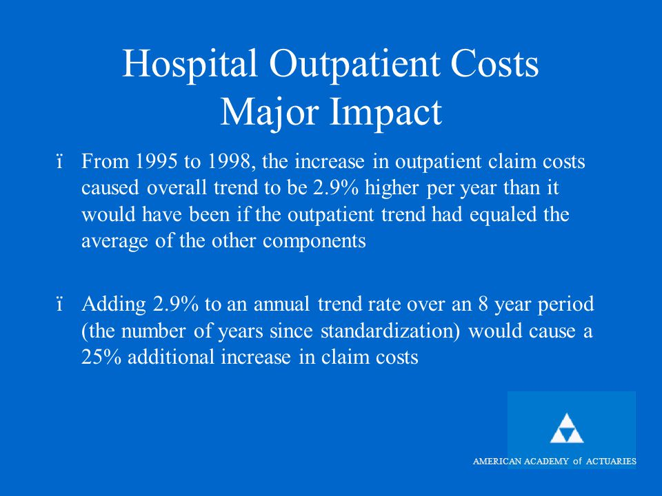 AMERICAN ACADEMY of ACTUARIES Hospital Outpatient Medicare Supplement Study