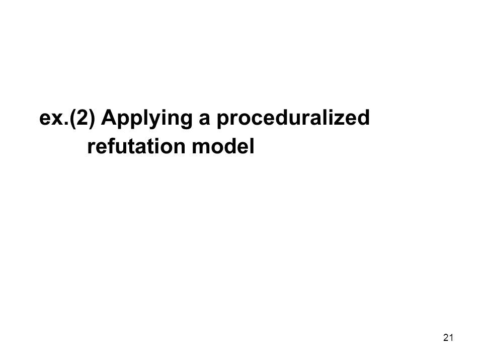 21 ex.(2) Applying a proceduralized refutation model