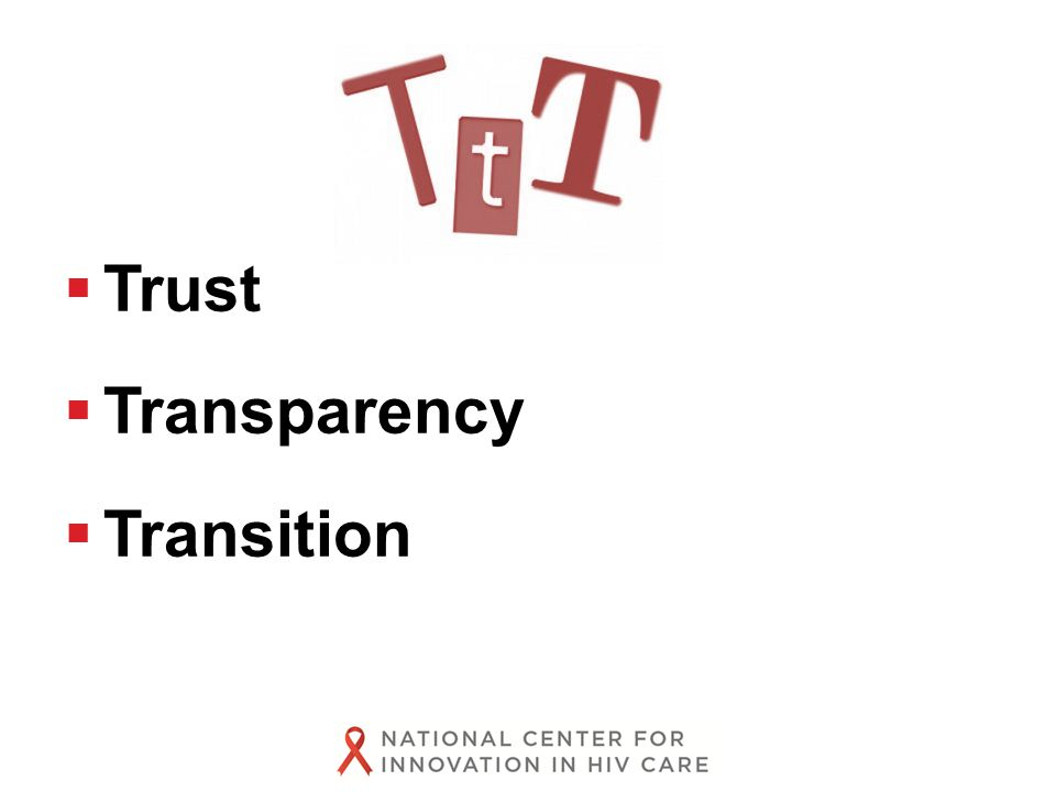  Trust  Transparency  Transition