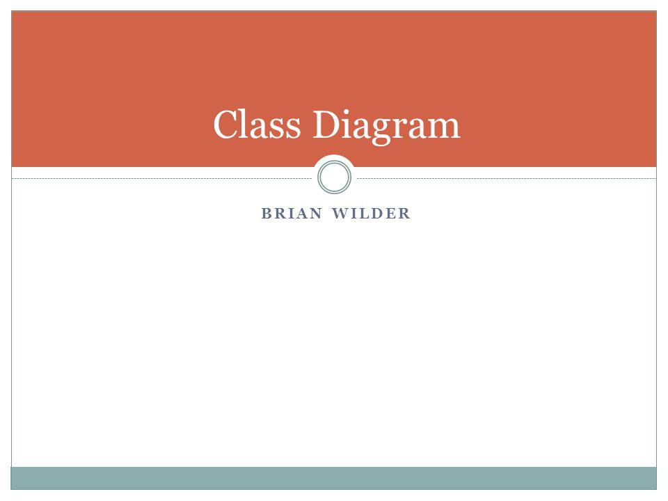 Class Diagram BRIAN WILDER