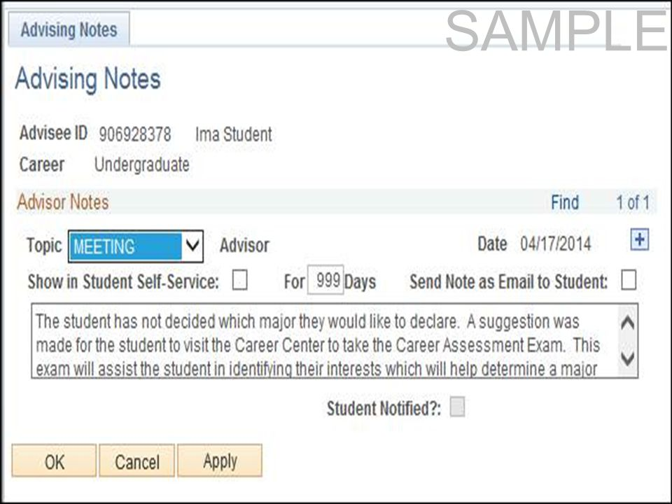 7 Campus Community Admissions Student Records Financial Aid SAMPLE