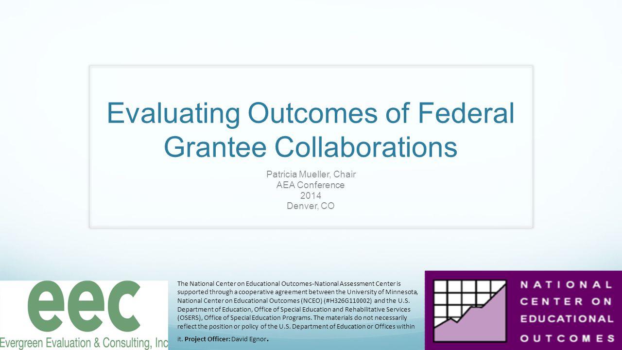 NCEO Partner Collaborative Logic Model