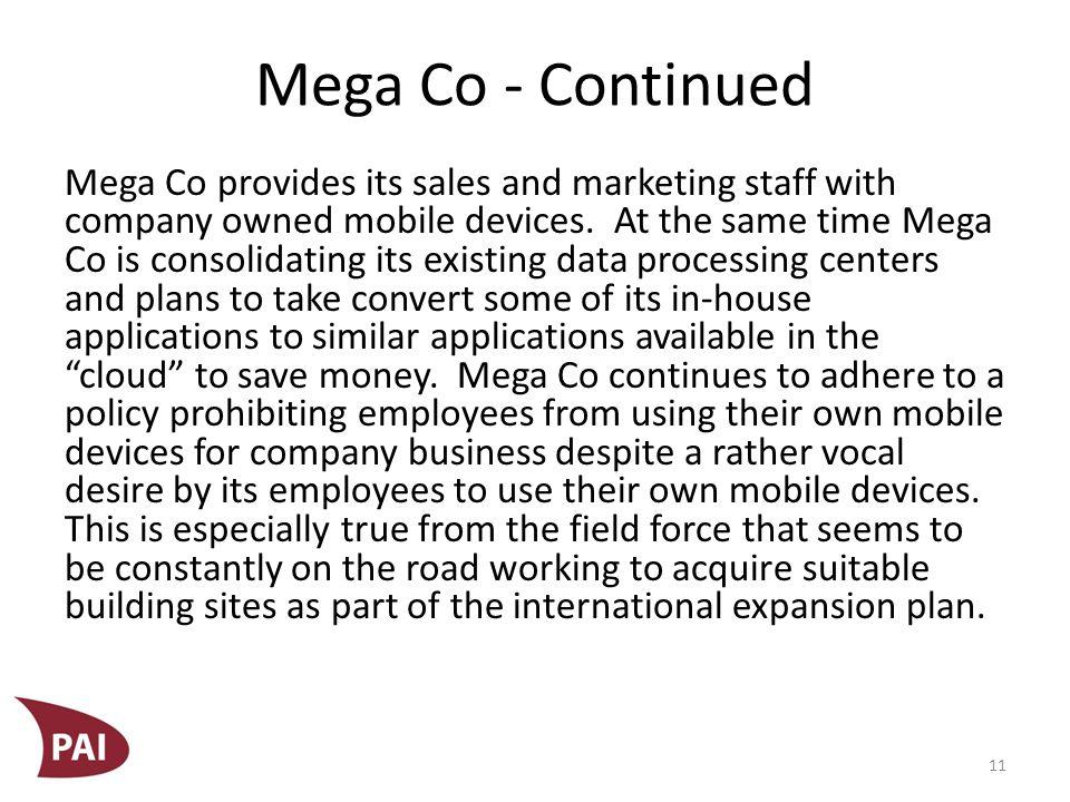 Mega Co - Continued Mega Co.