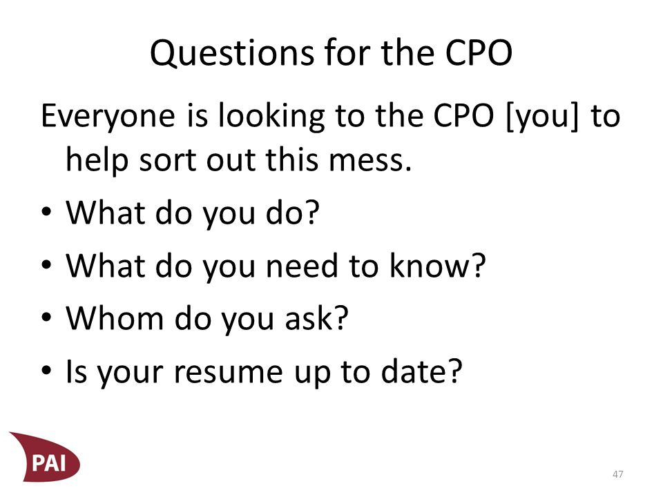 Questions to Ponder Do you have an established incident response plan.