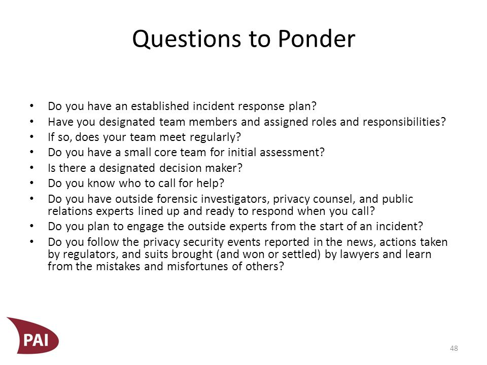 Questions to Ponder Have you practiced with your team.