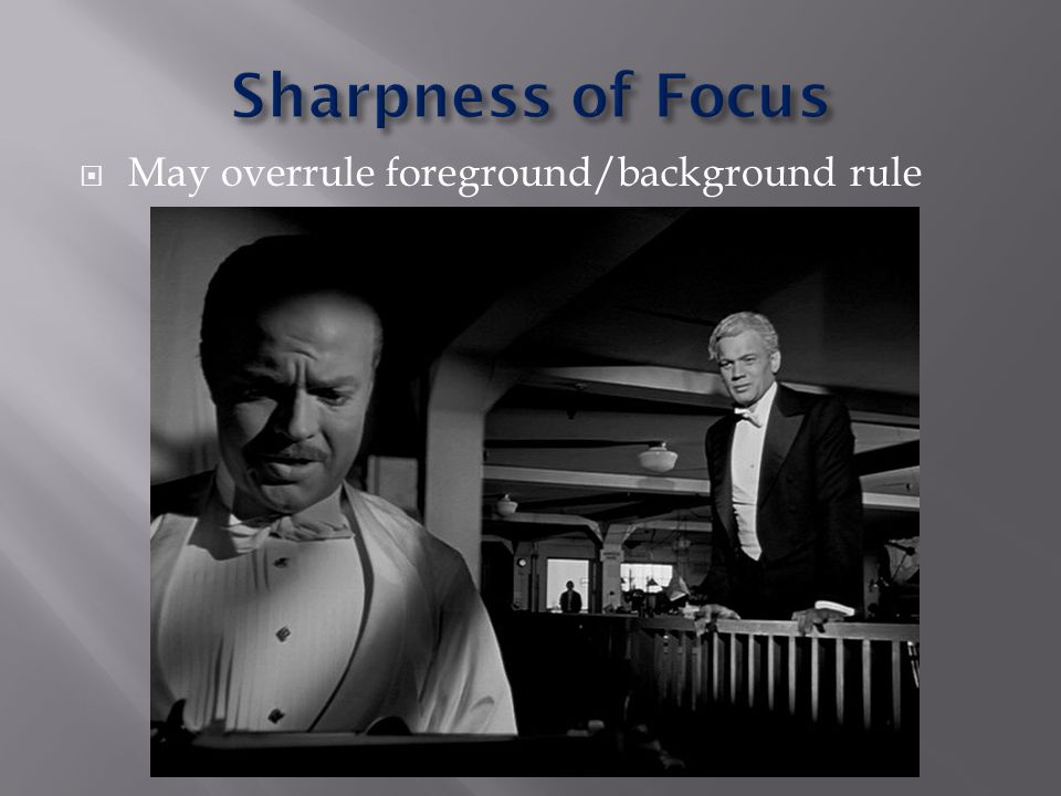 May overrule foreground/background rule