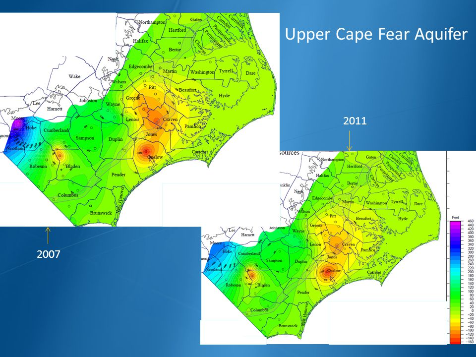 2007 2011 Upper Cape Fear Aquifer