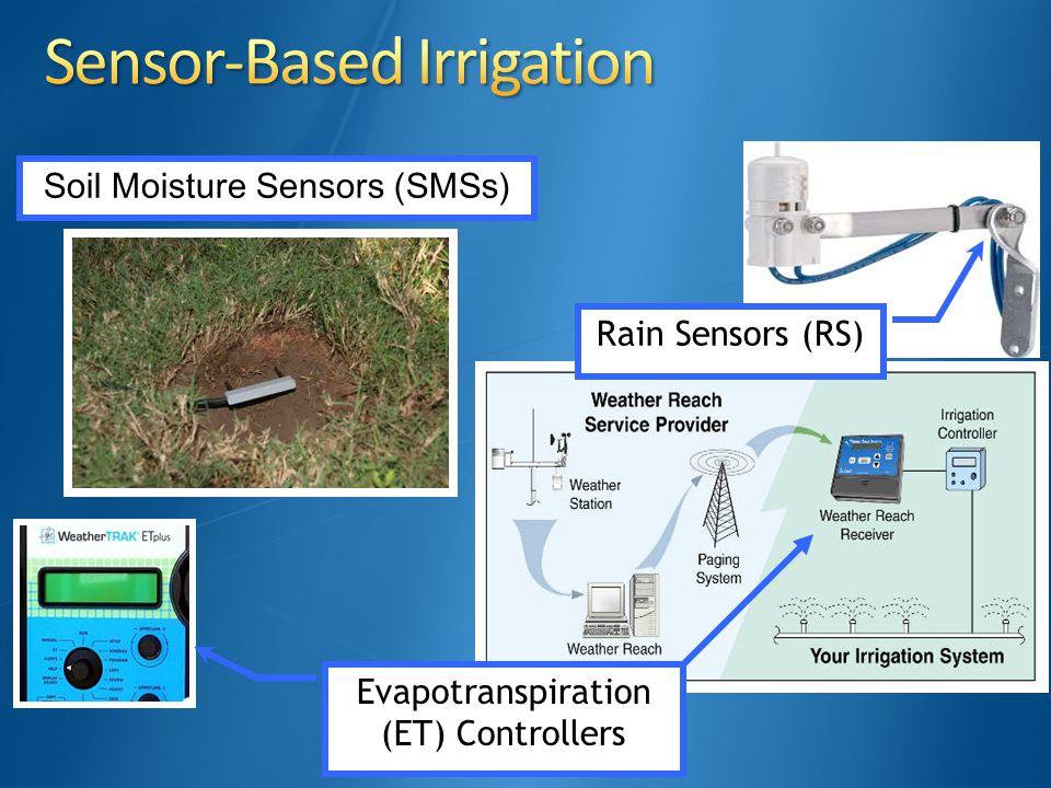 Evapotranspiration (ET) Controllers Rain Sensors (RS) Soil Moisture Sensors (SMSs)