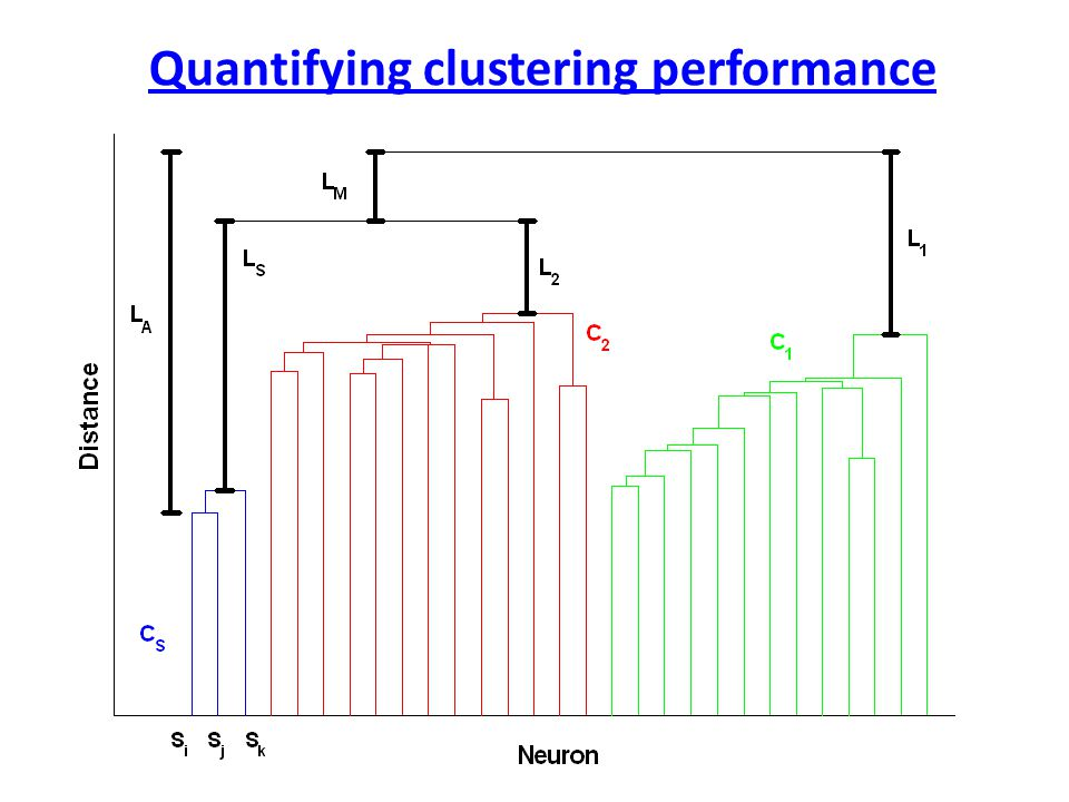 Quantifying clustering performance