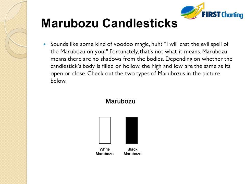 Marubozu Candlesticks Sounds like some kind of voodoo magic, huh.