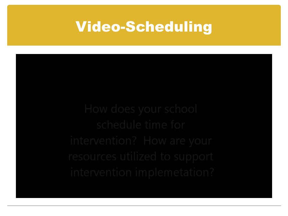 Video-Scheduling