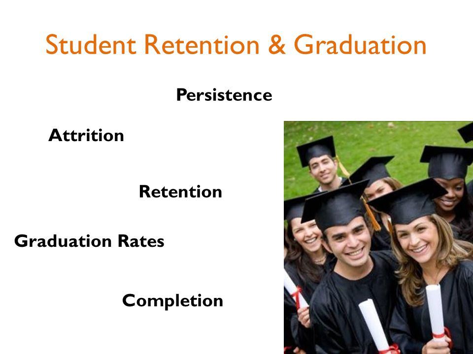 Student Retention & Graduation Attrition Retention Persistence Completion Graduation Rates