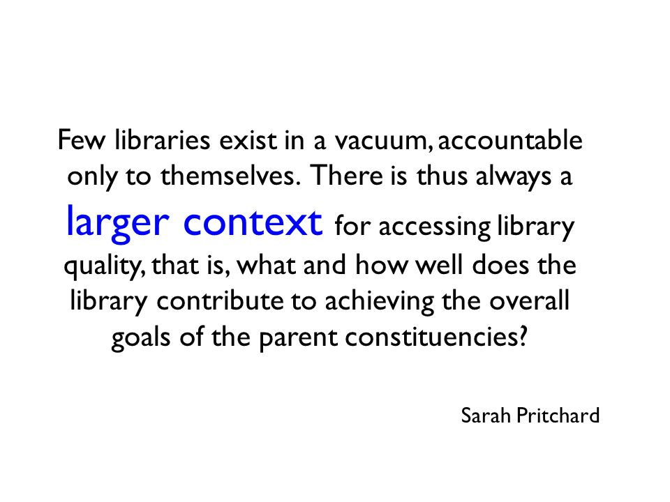 Value of the Academic Library