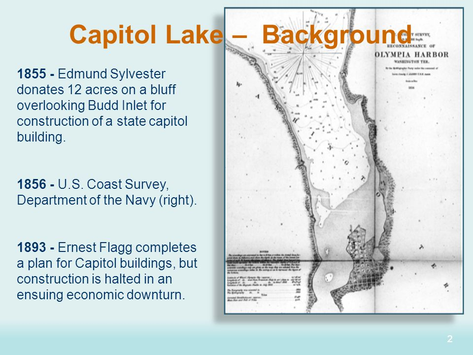 33 1911 - State Capitol Commission hires Wilder and White (architects) and Olmsted Brothers (landscape designers) to develop the Capitol Campus.