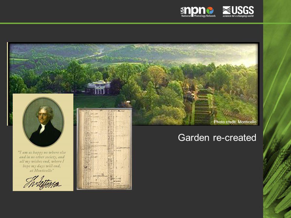 Garden re-created Photo credit: Monticello