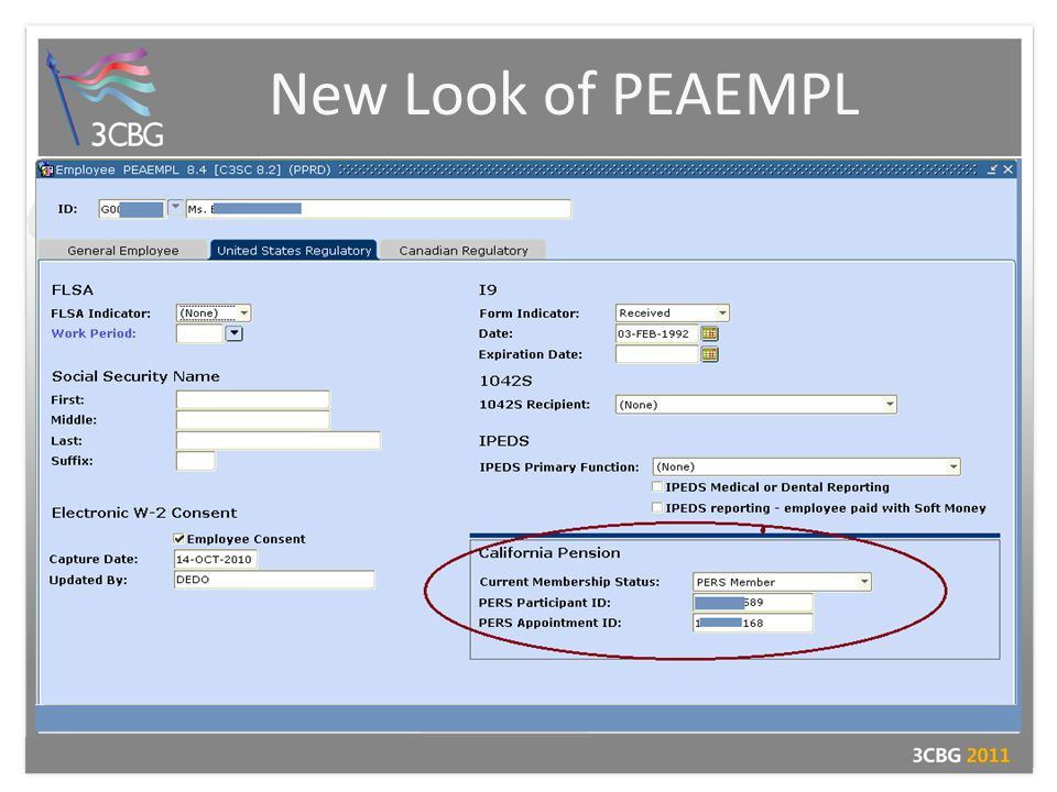 New Look of PEAEMPL