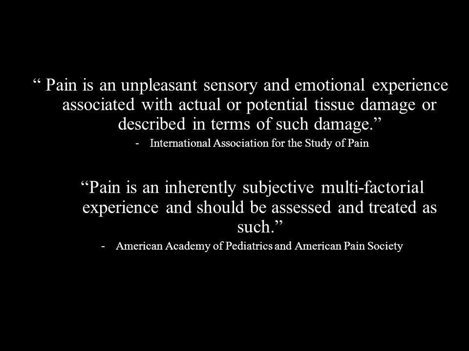 What is the Purpose of Pain.