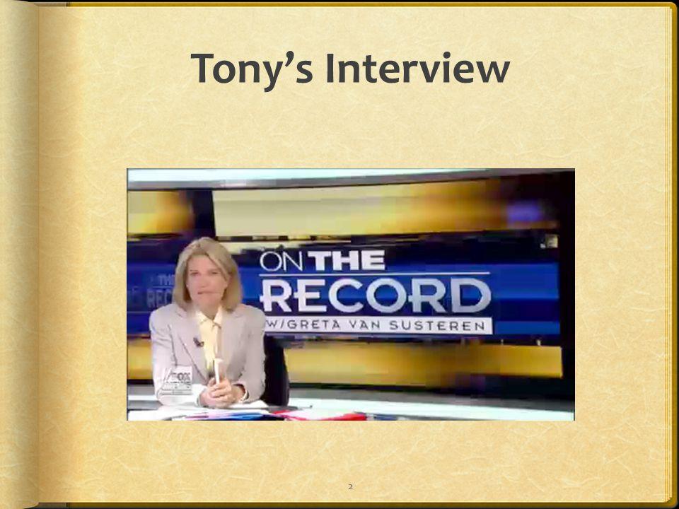 Tony's Interview 2