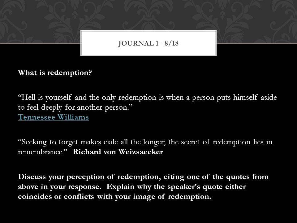 What is redemption.
