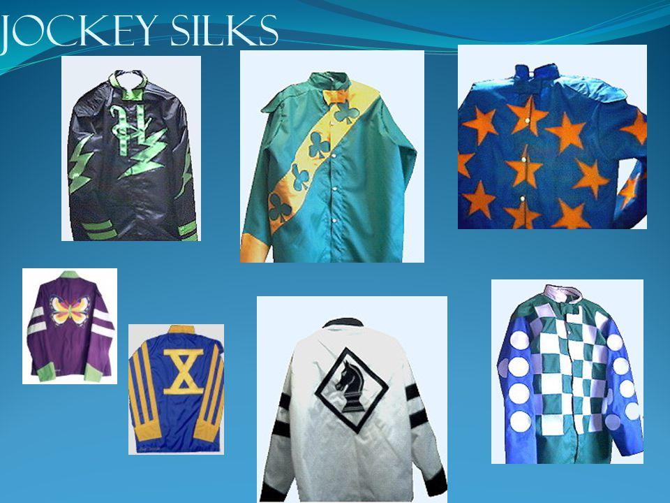 JOCKEYS Each jockey weighs around 110 pounds.