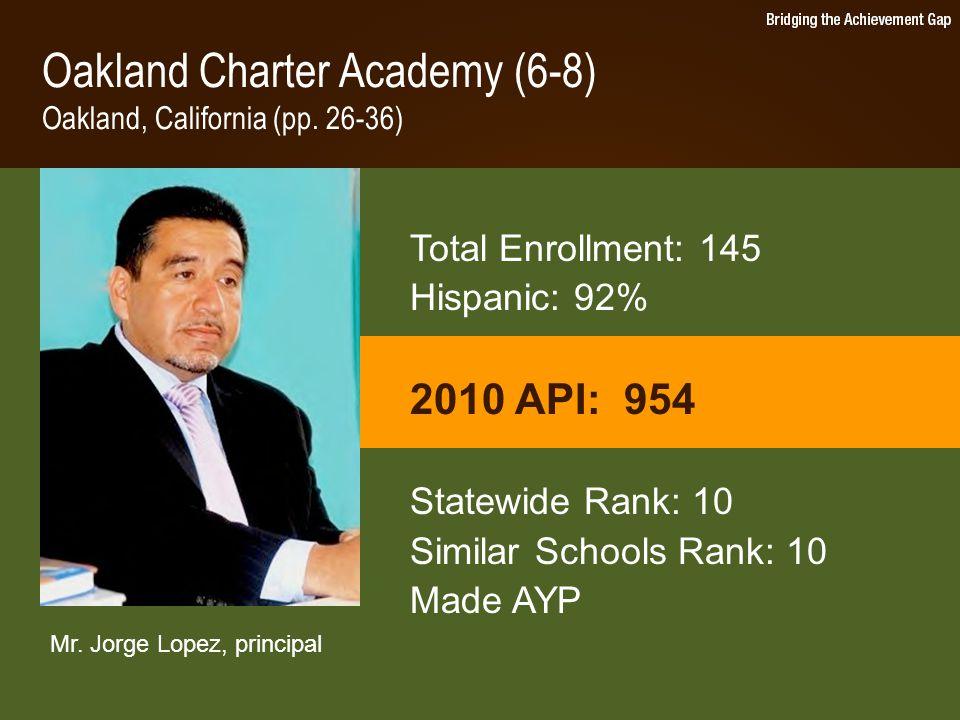Oakland Charter Academy (6-8) Oakland, California (pp.