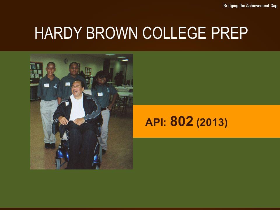 HARDY BROWN COLLEGE PREP API: 802 (2013)