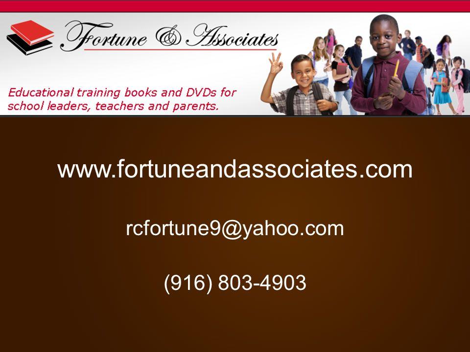 www.fortuneandassociates.com rcfortune9@yahoo.com (916) 803-4903