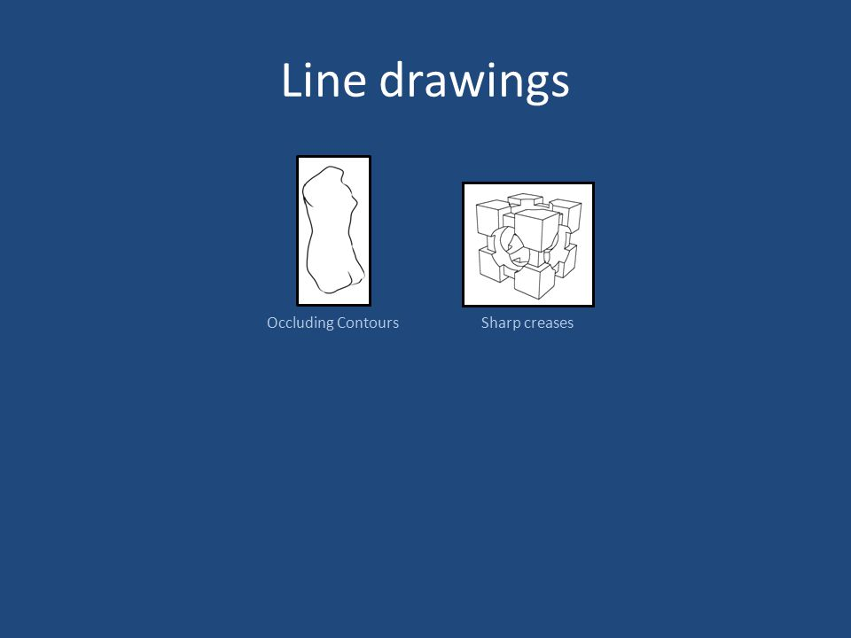 Line drawings Occluding ContoursSharp creases